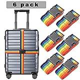 6er Pack koffergurt Gepäckband koffergurt blau kofferband bunt...